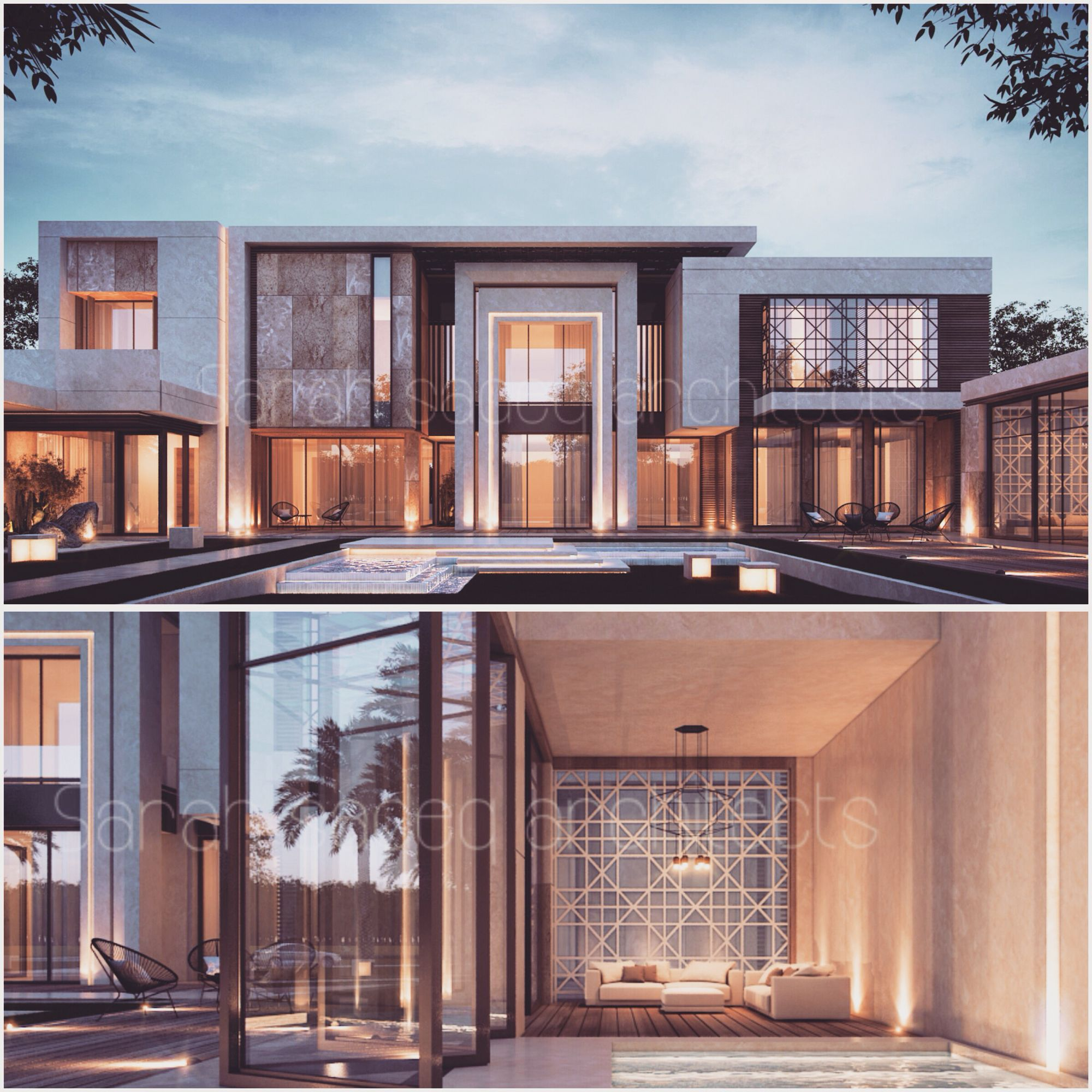 2000 m private villa kuwait , sarah sadeq architects | sarah sadeq ...