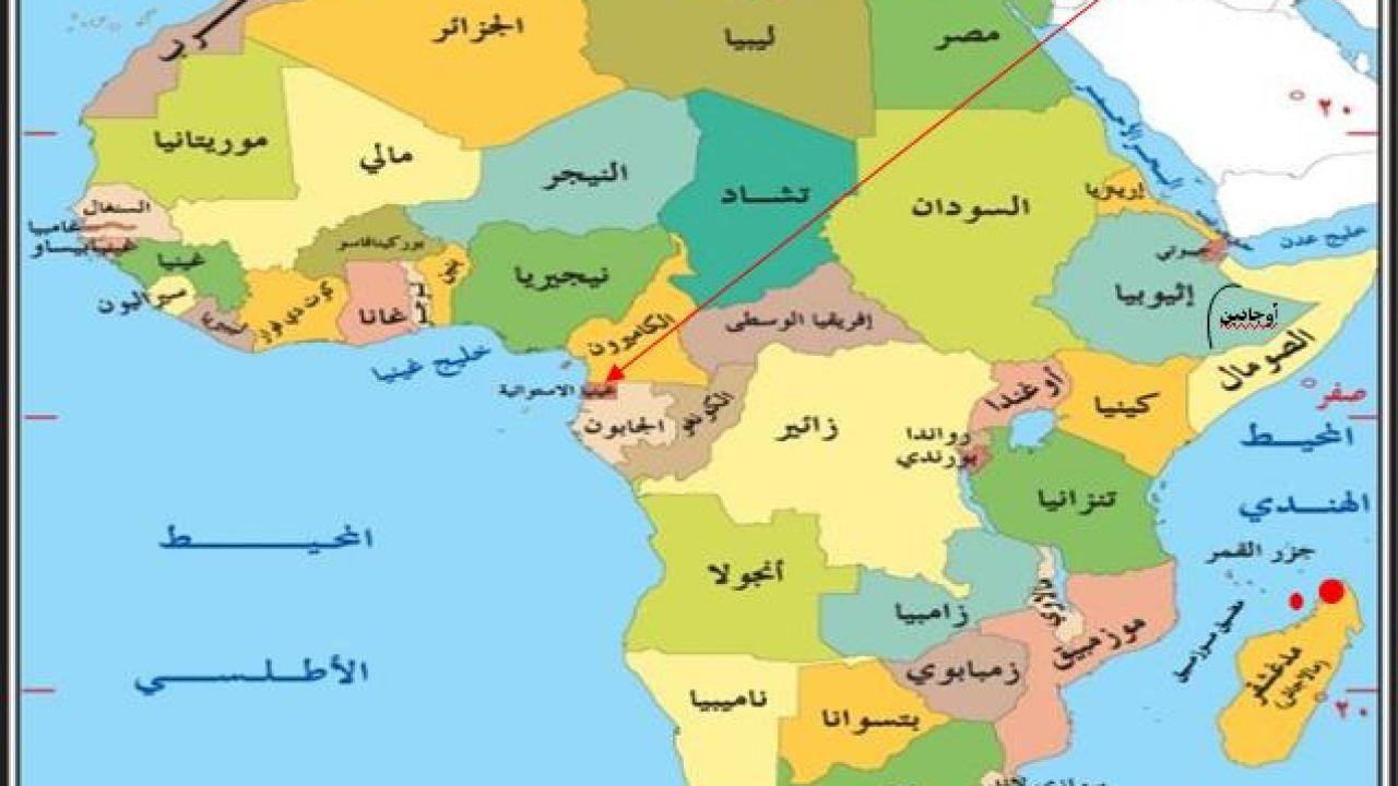 أين تقع غينيا الإستوائية World Map World Equatorial