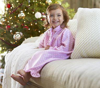 Pink Polka Dot Nightgown #pbkids  Christmas jammies for Amelia
