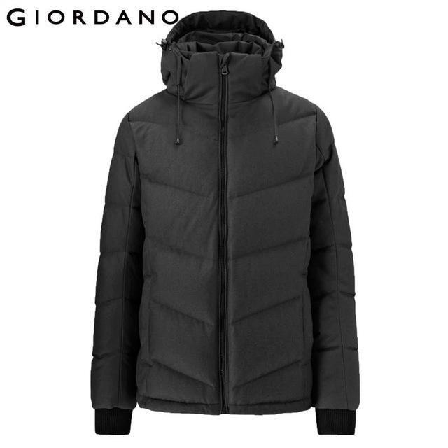 61969c2fa Giordano Men Down Jacket Hooded Long Sleeves Down Jacket Coat ...