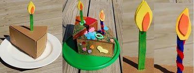 DIY cajita en forma de pastel!