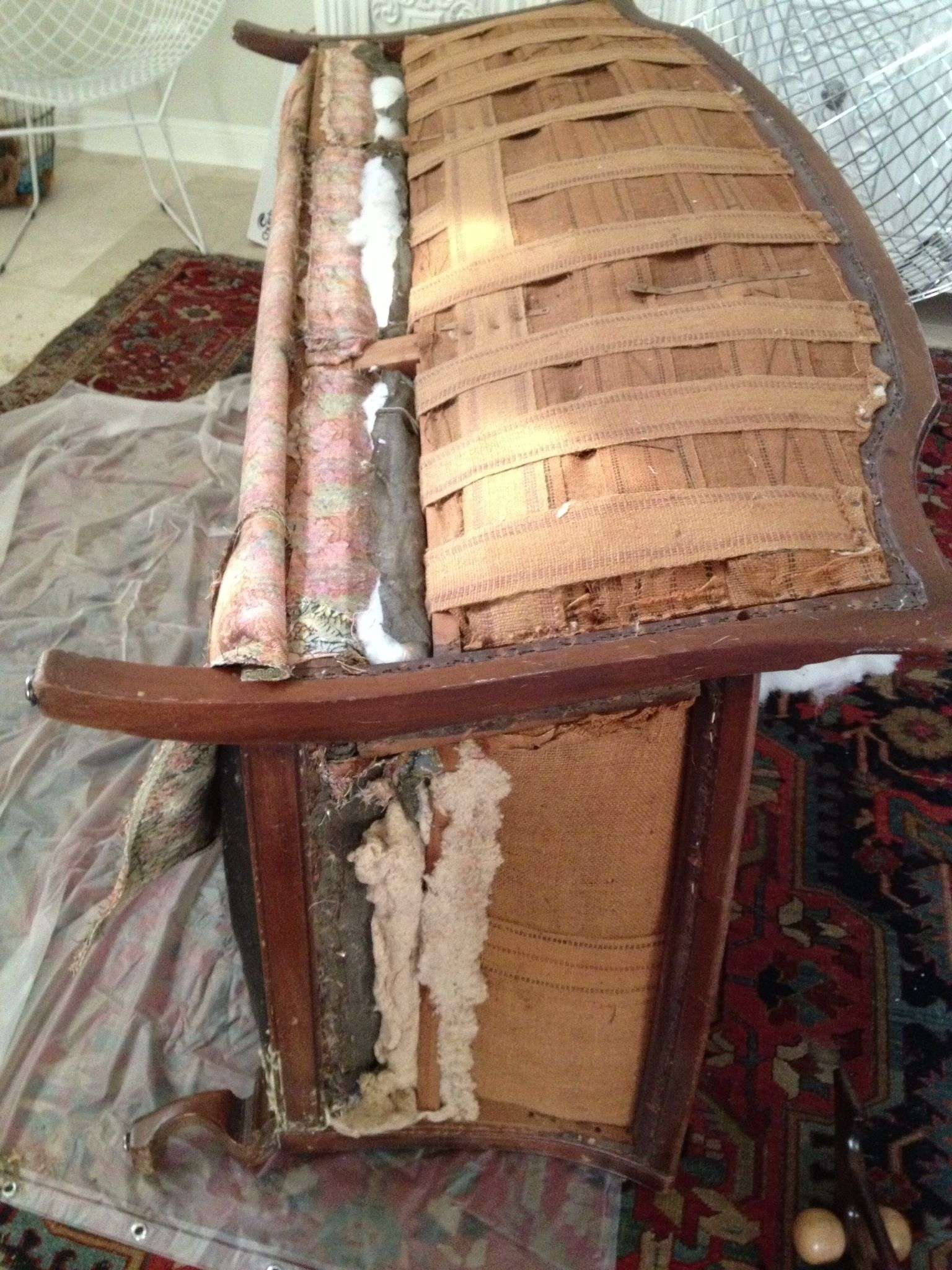 Upholstery Couch Diy Re Upholstering An Antique Sofa The Diy Way