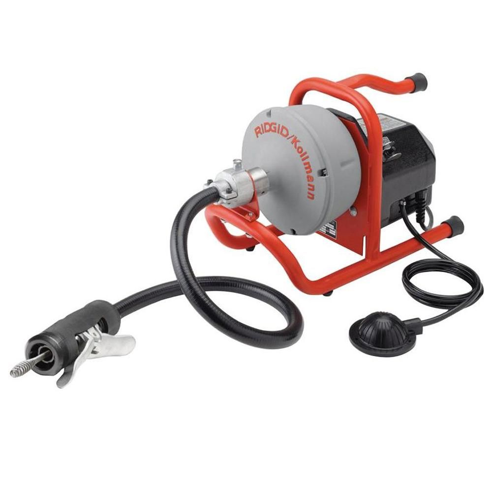 Ridgid 115 Volt K 40af Autofeed Drain Cleaning Machine With C 13 5 16 In Inner Core Speed Bump Cable 71722 The Home Depot In 2020 Sink Drain Bathtub Drain Drain Cleaner