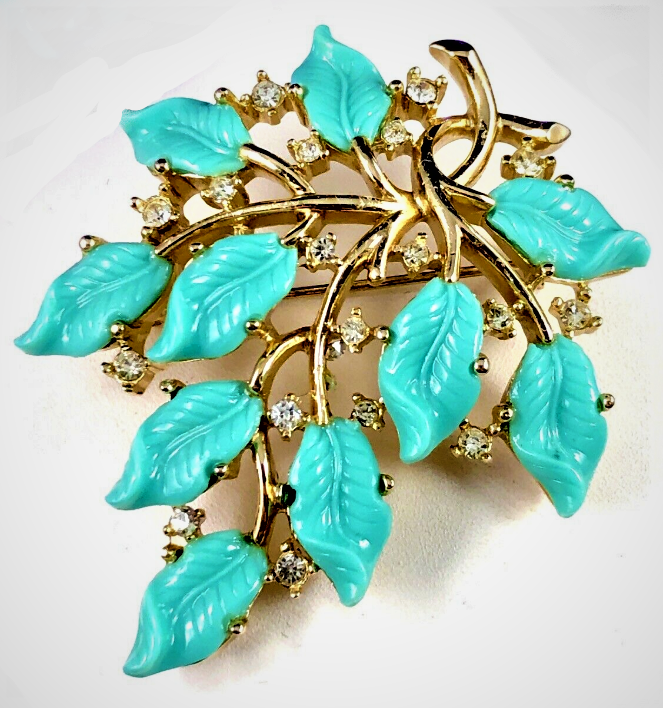 Turquoise Teal Pressed Glass Earrings Jewelry Vintage