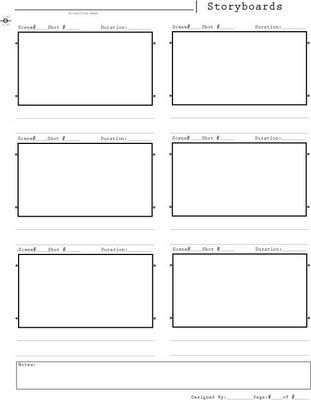 Templates For Sketchbook  Storyboard Template  Inspiration