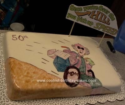 Coolest Over The Hill Cake Turning 50 Birthday cakes and Homemade