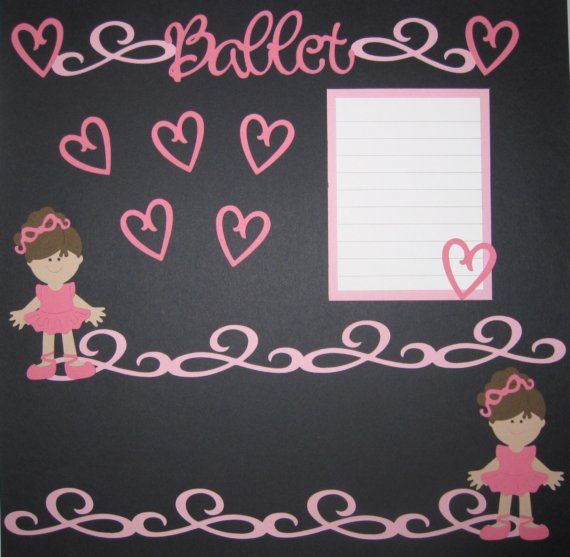 BALLET Scrapbook Border Set Page Layout / Die by easyscrapbooking, $7.50