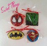 Super hero cookie favours - sweetthingsbywendy.ca