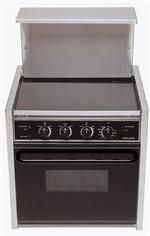 Seaward 3347 1110 3 Burner 110 Volt Built In Galley Range W Ceran Top Blk Door Electric Range Kitchen Appliances Electricity