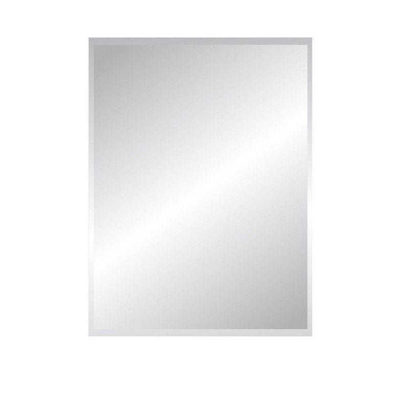 Miroir Non Lumineux Decoupe Rectangulaire L 60 X L 80 5 Cm Biseaute Sensea Miroir Miroir Rectangulaire Et Miroir Biseaute