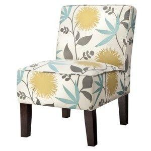 Burke Accent Print Slipper Chair Polly Aegean