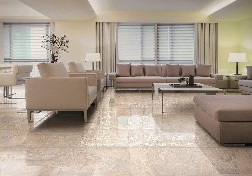 Pavimento rivestimento in gres porcellanato effetto marmo impero by