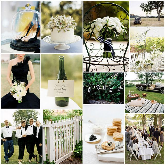 Postcards And Pretties: { Black Tie Bbq Inspiration Board