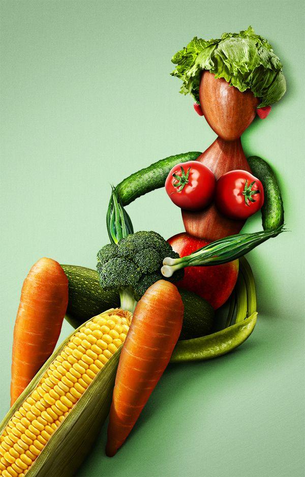Секс мужчин с овощами