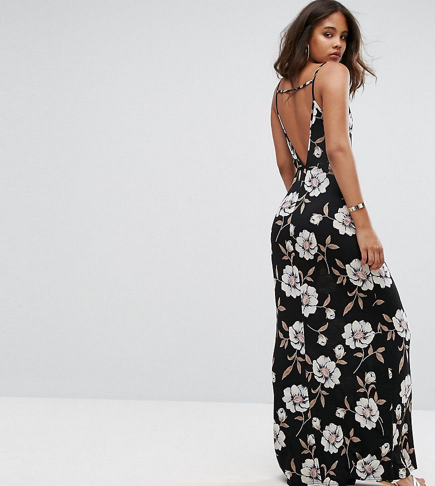 Get This Asos Tall S Long Dress Now Click For More Details Worldwide Shipping Asos Tall V Back Maxi Dress In Dark Floral Dress Fashion Scoop Neckline Dress [ 972 x 870 Pixel ]