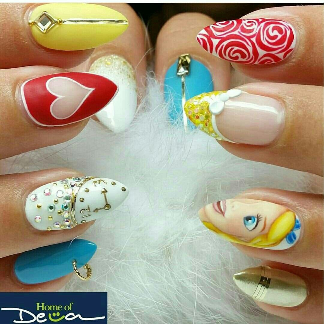 Pin von Claudia Guisao auf Disney nailart | Pinterest | Nageldesign ...