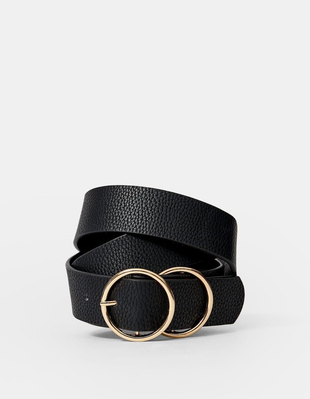 Cinturon Doble Hebilla Cruzada Cinturones De Mujer Stradivarius Borse Cinture Portafogli