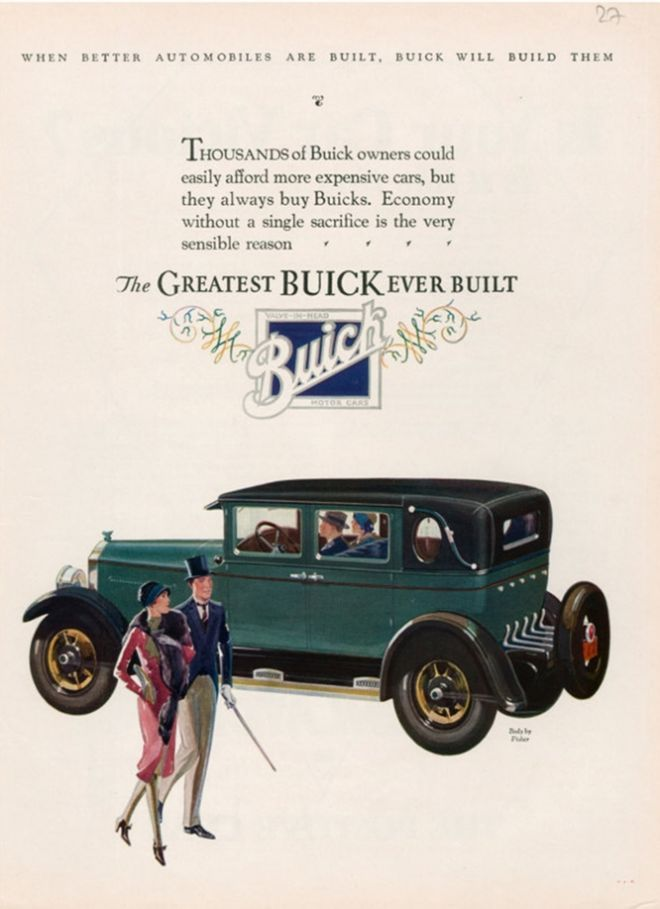 My dream car, the 1927 Buick | Searching for an Aesthetic for These ...