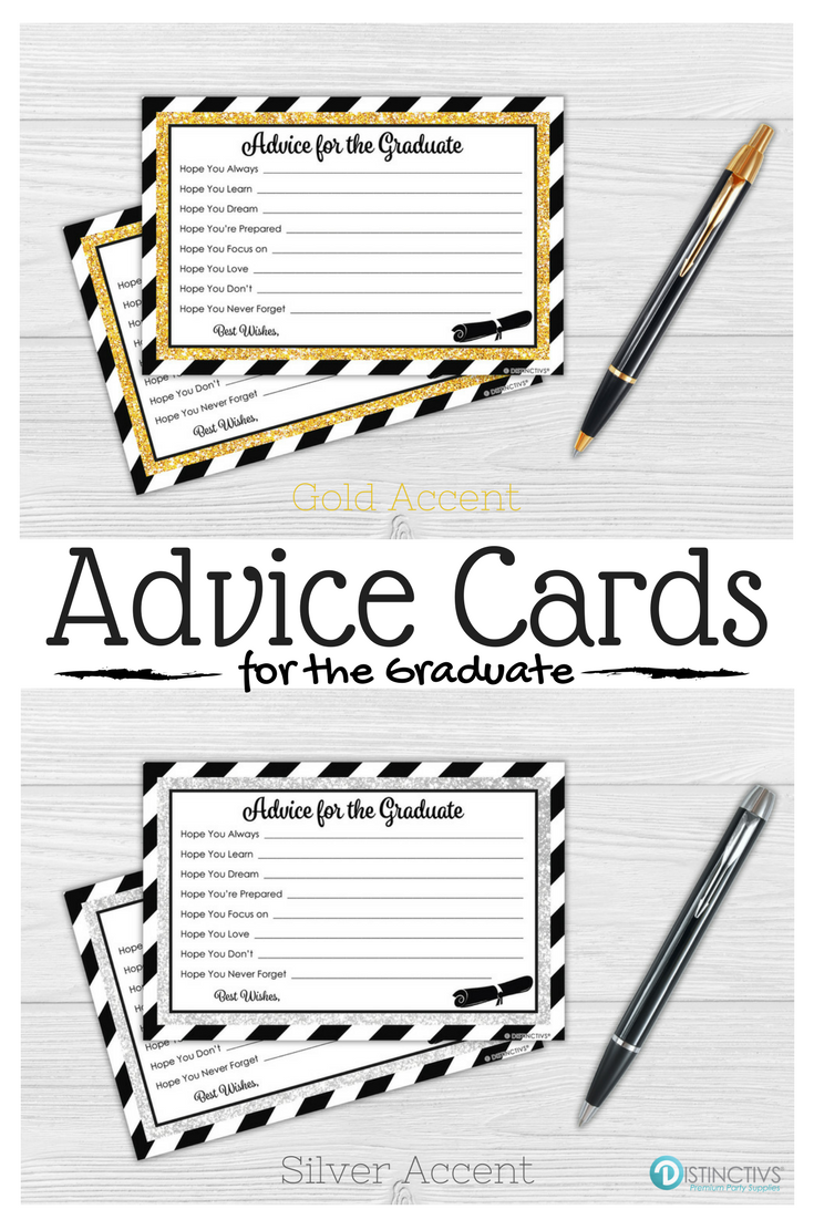 Black And Gold Graduation Advice Cards 25 Count Advice Cards