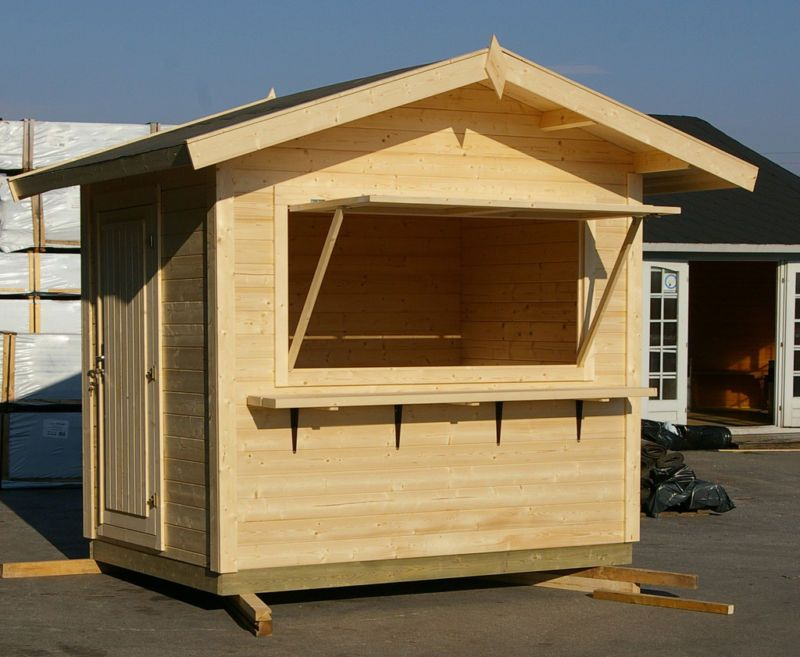 Shack Log Cabin 2.50 x 1.80m Summer Garden House Shed