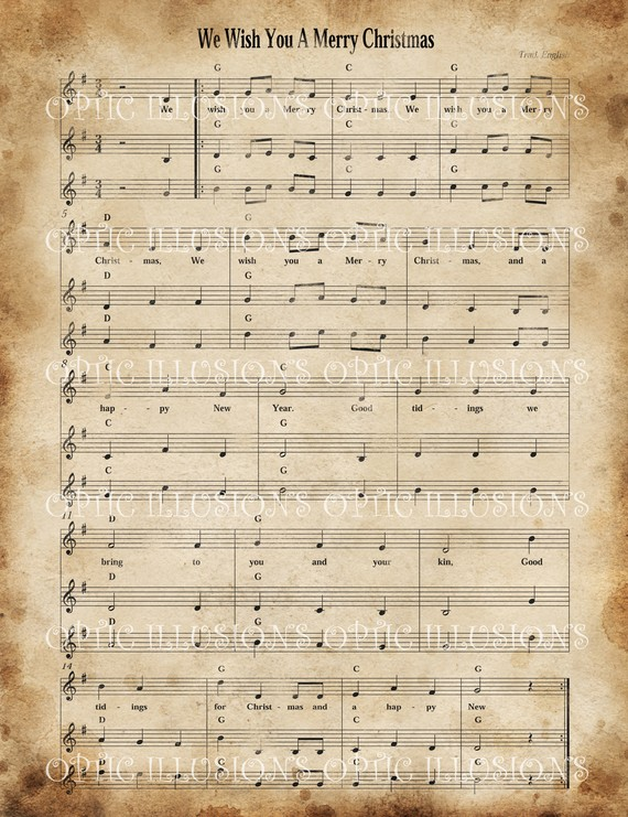 It's just a picture of Geeky Vintage Christmas Sheet Music Printable,frosty the Snowman