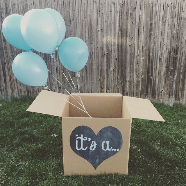 It S A Gender Reveal Balloon Box Sign Chalkboard Printable Digital File Sibling Party Gender Reveal Balloon Box Gender Reveal Box Gender Reveal Balloons