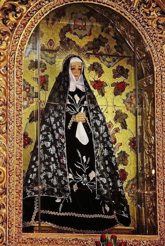 Ntra. Señora de la Soledad, Capilla Expiatoria de la Soledad, Parroquia de San Juan Apóstol, Acatzingo, Pue. | da Tach Jrez. Hra.