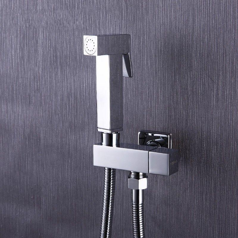Toilet Brass Hand Held Bidet Spray Shower Head Douche Kit Shatta