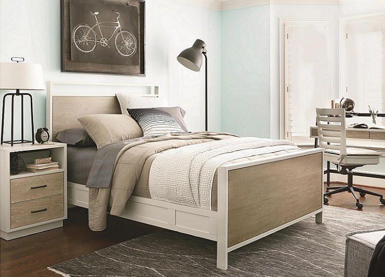 Juneau Gray Full Size Panel Bed | Panel bed, Bedroom set