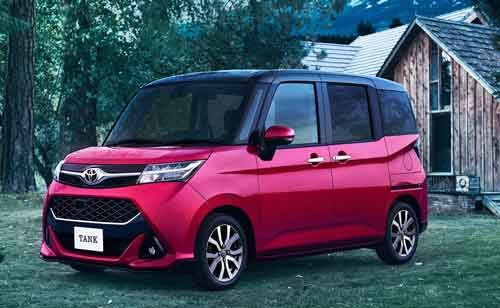 Toyota Tank Minivans And Toyota Roomy Launched Exclusively In Japan Mini Van Classic Japanese Cars Toyota