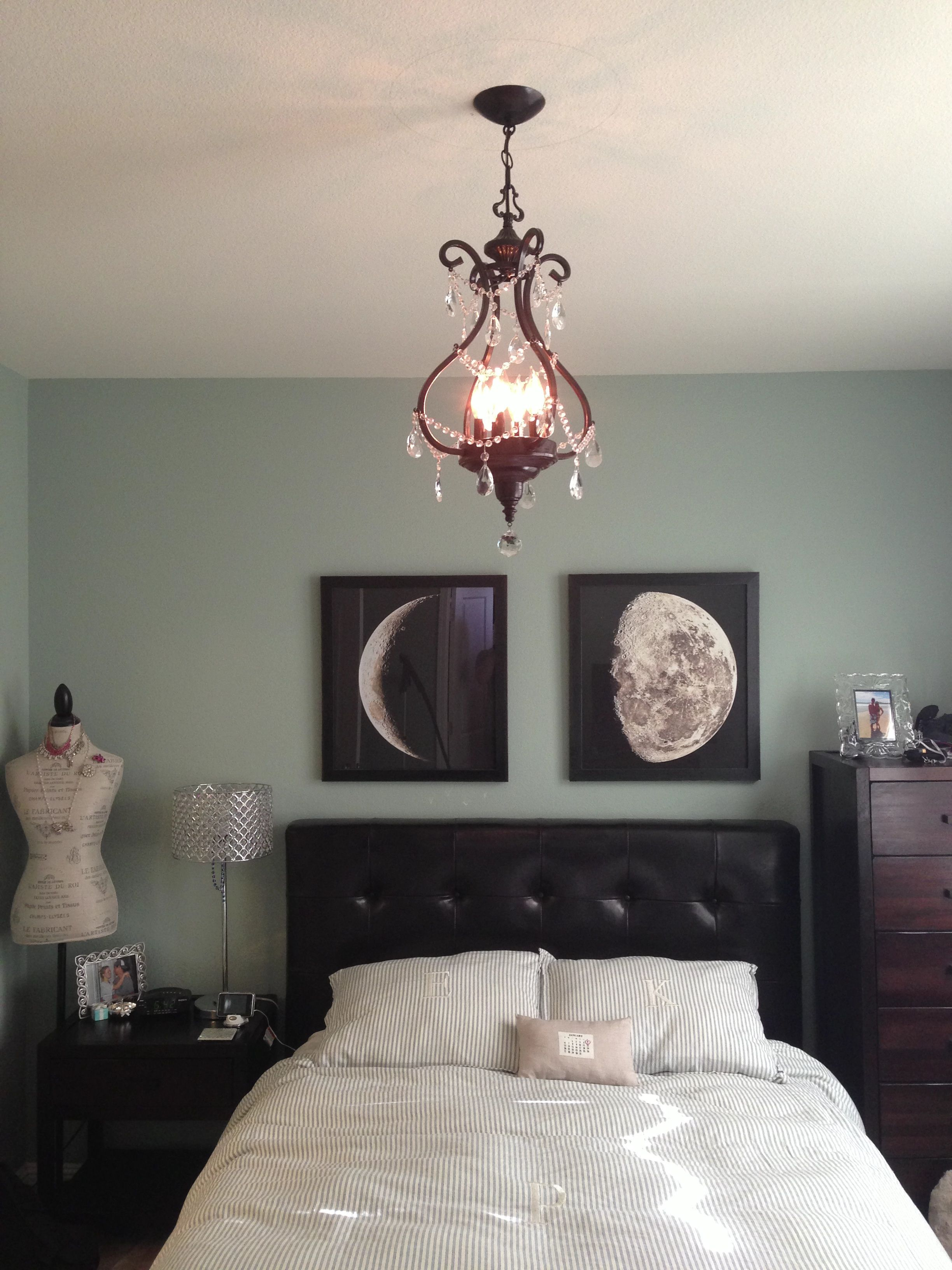 moon phases bedroom art home ideas house. Black Bedroom Furniture Sets. Home Design Ideas