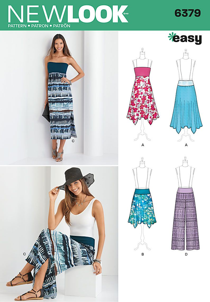 Simplicity Creative Group -New Look 6379 Misses\' Pants, Skirt, and ...