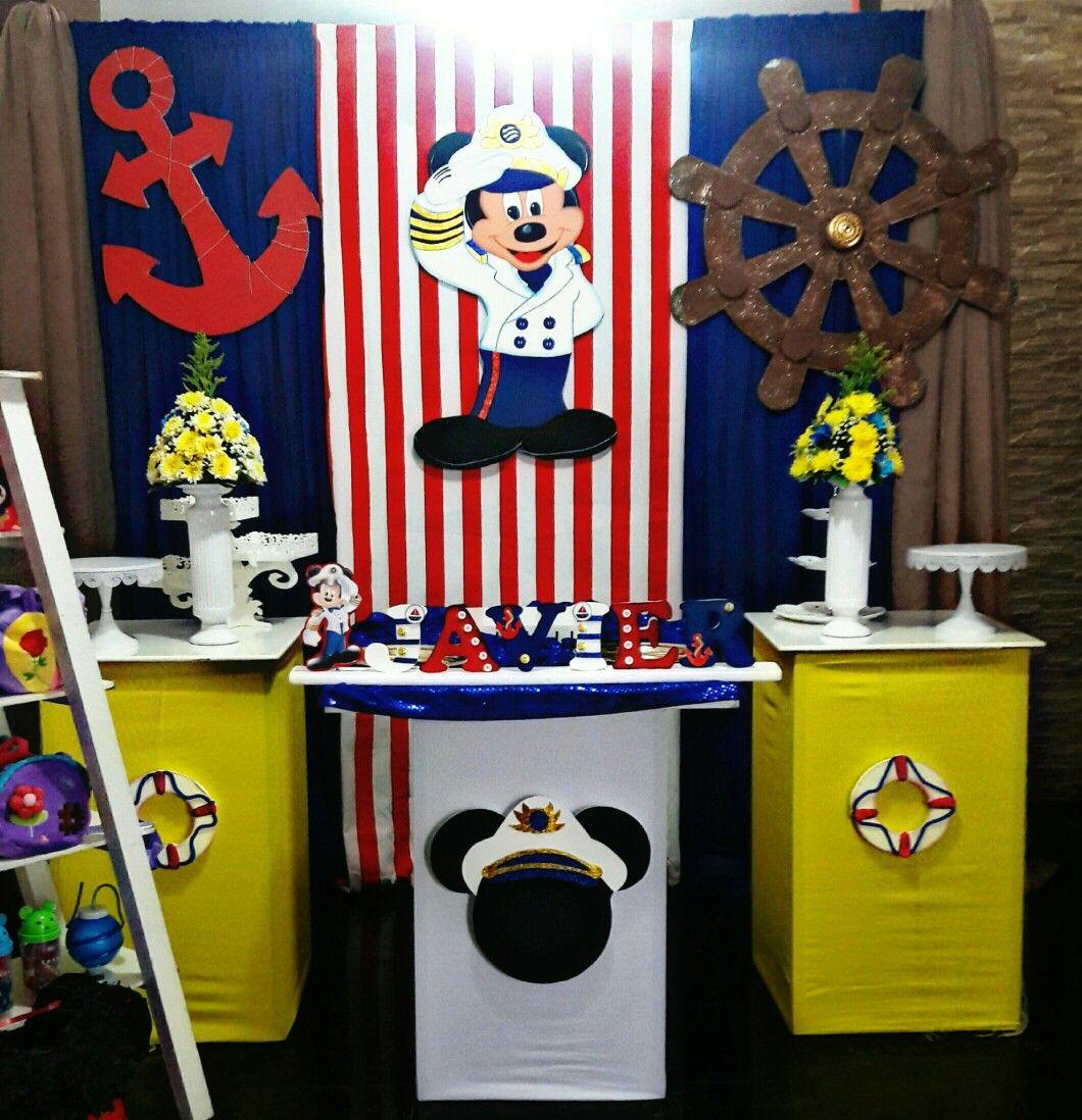 Mickey Marinero Fiesta Mickey Mouse Nautical Mickey Mickey Mouse Party