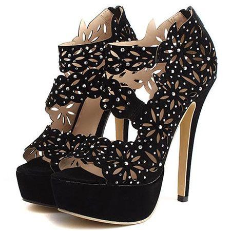 Ladylike Charming Luxurious Rhinestone Platform-sandal Platform Sandals from fashionmia.com