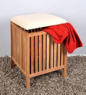 Tabouret Avec Coussin Pour Le Sauna Salle De Bains Panier A Linge