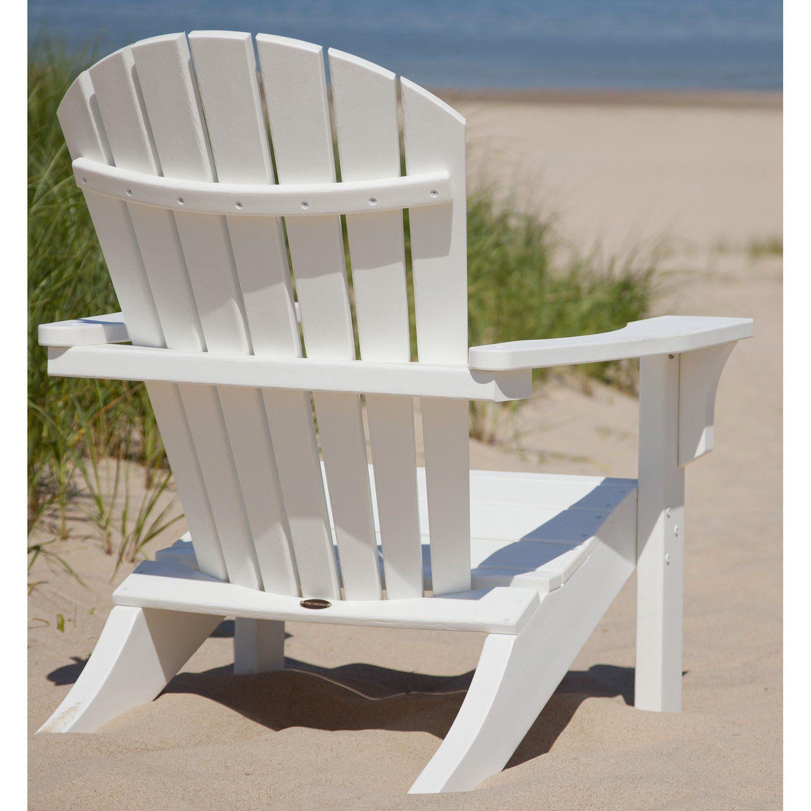 Outdoor POLYWOOD® Seashell Recycled Plastic Adirondack