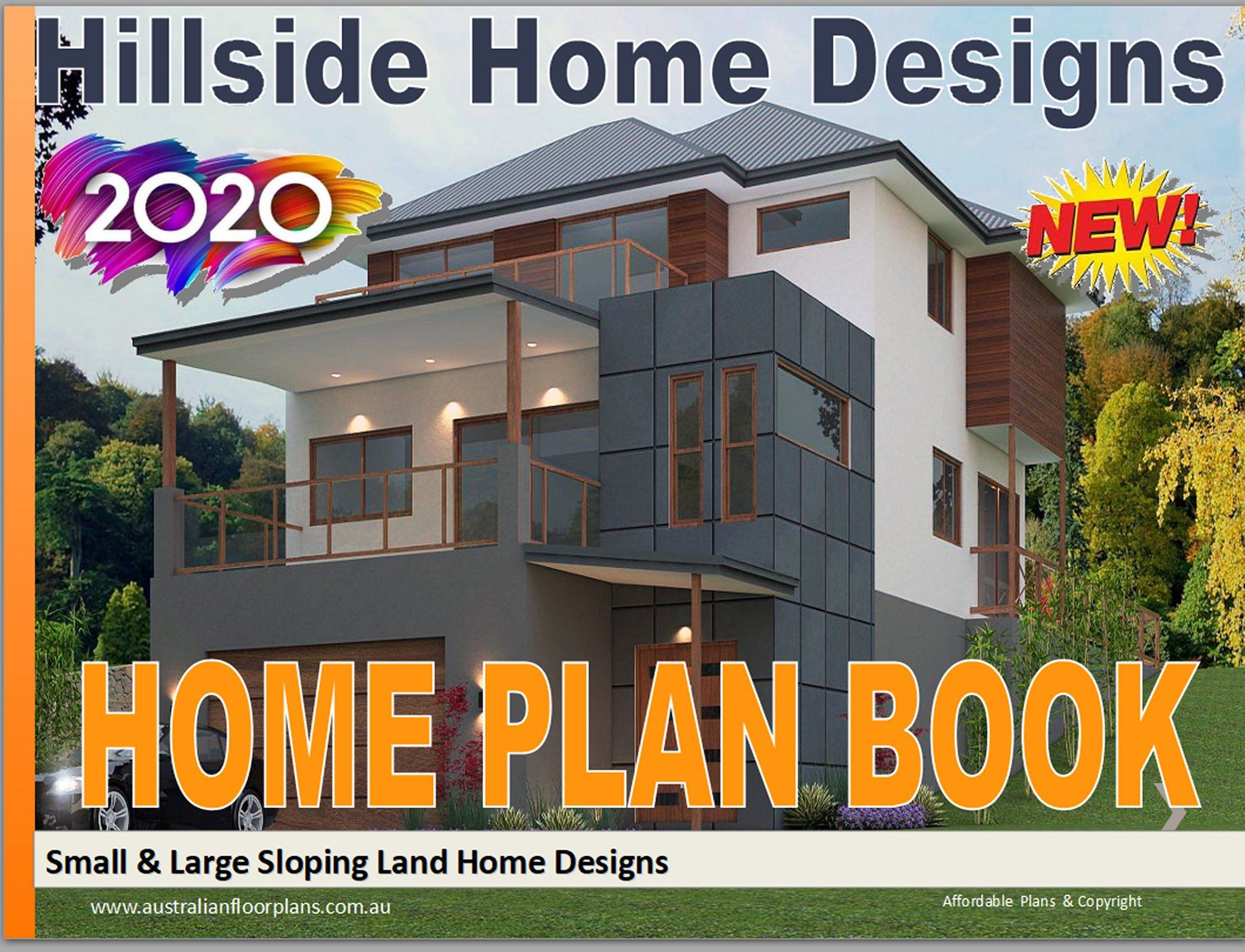 Sloping Land House Plans Distinctive Homes Hillside House Etsy Sloping Lot House Plan House Plans Australia Home Design Floor Plans