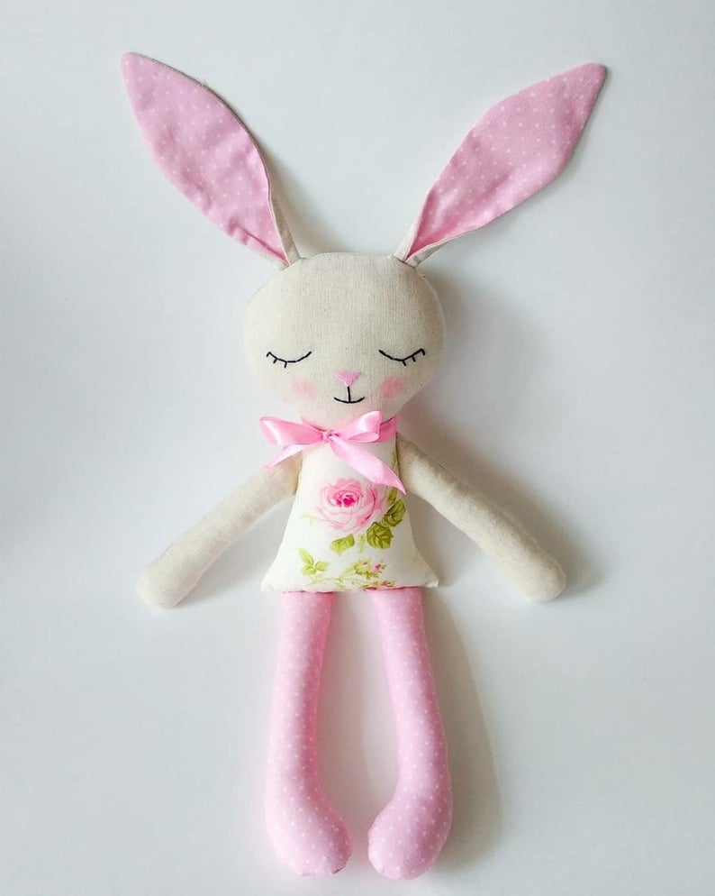 Bunny rag doll sewing pattern Stuffed animal rabbit fabric toy | Etsy