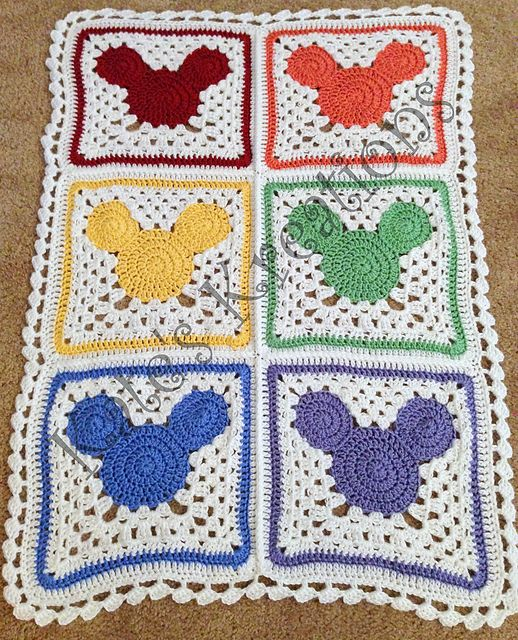 Craft Passions: Mickey Mouse inspired Head Afghan..# free #crochet ...