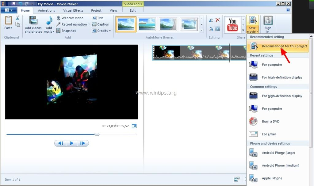 Rotating video in windows movie maker clever ideas helpful hints rotating video in windows movie maker ccuart Images