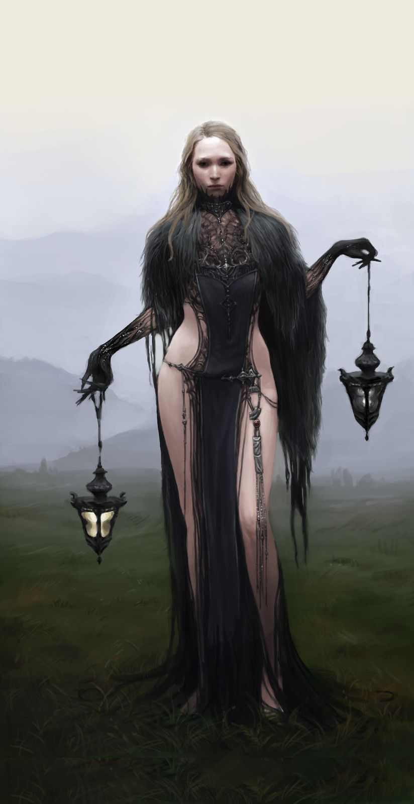 Black Witch, Kind of cool.for halloween? A tad more clothing perhaps... /////////^^Jiyeon Ryu on ArtStation at https://www.artstation.com/artwork/vE4kd