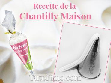 Recette pour faire de la chantilly fimo maison sans rien acheter tuto fimo pinterest - Chantilly maison sans syphon ...