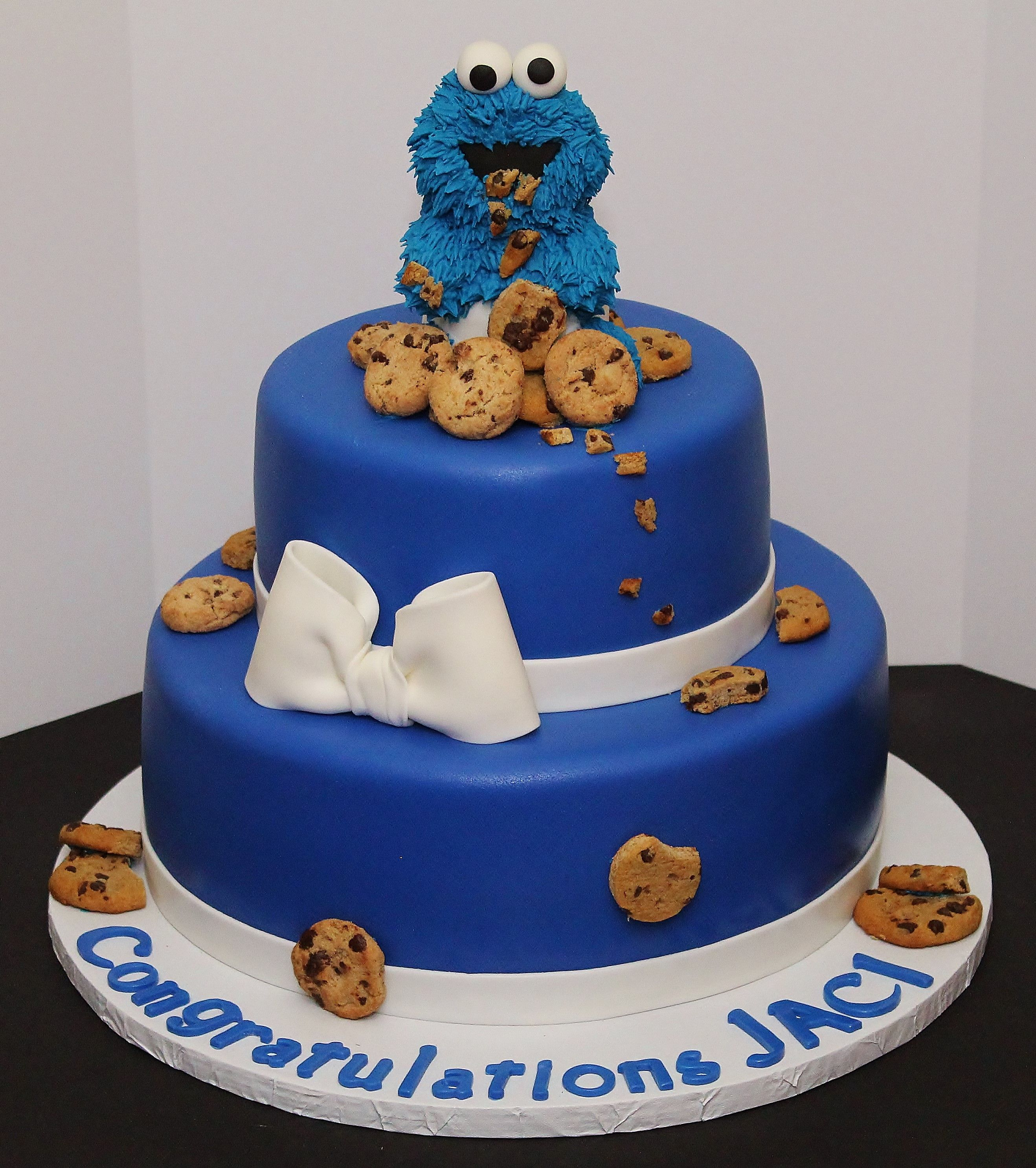 Cookie monster baby shower cake by cecy huezo www