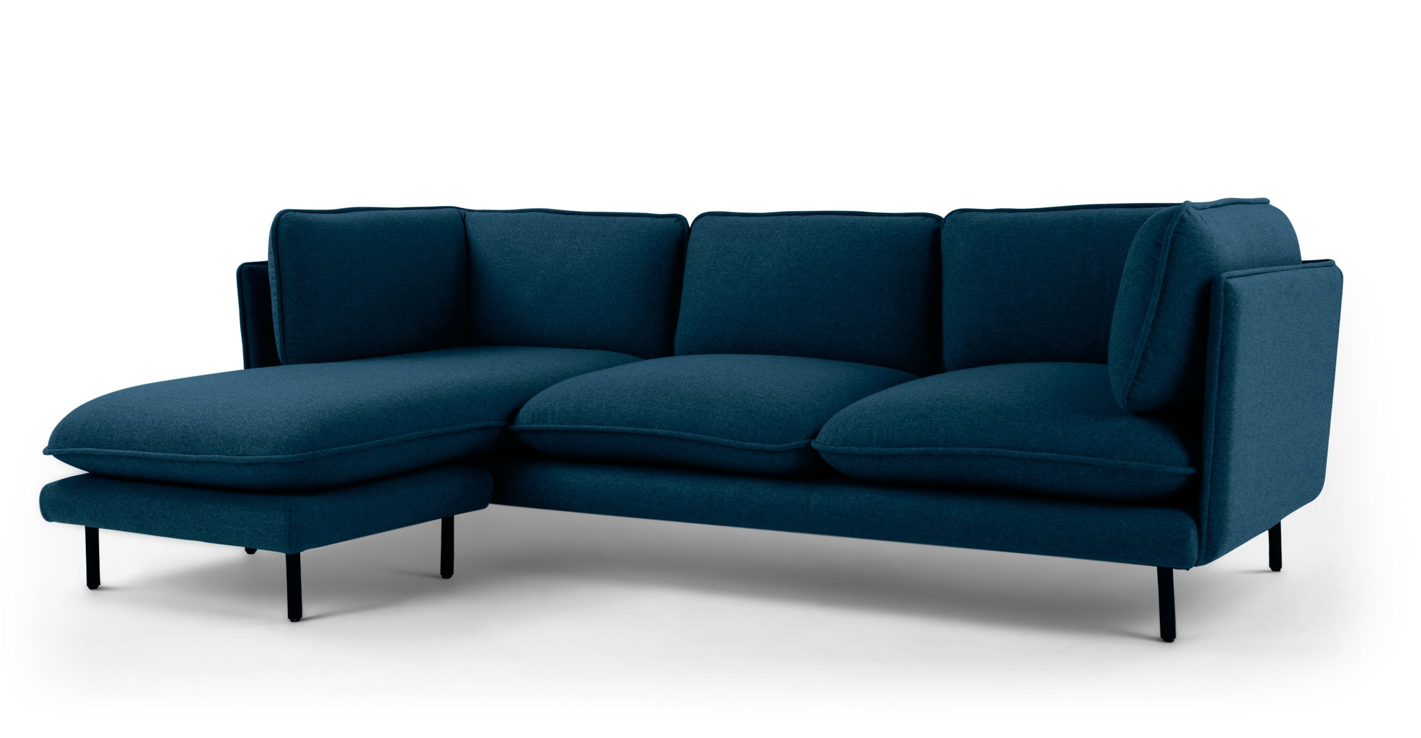 Sofa Petrol Wes Corner Chaise, Petrol Teal | Made.com | Corner Sofa, Living Room Corner, Teal Sofa