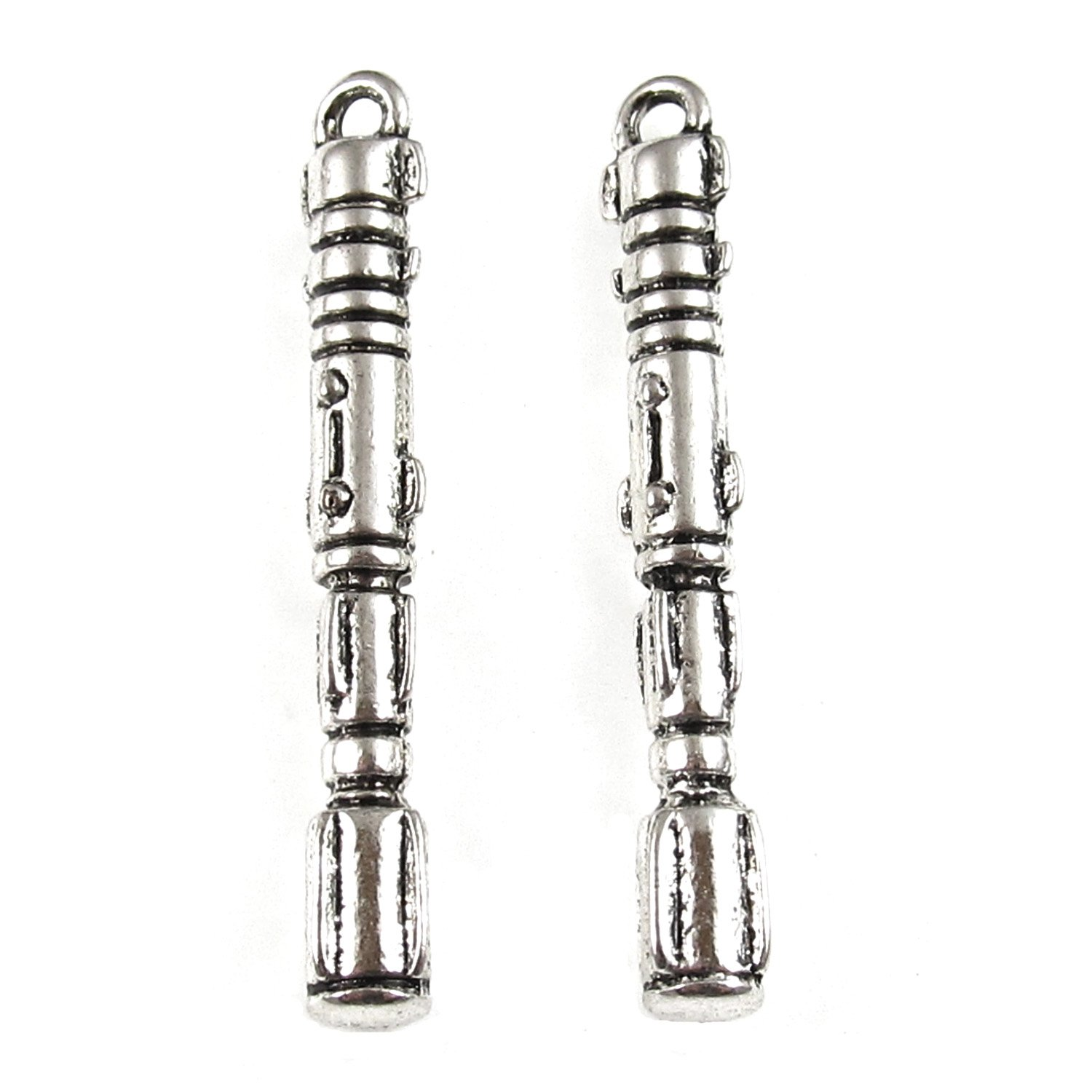 Silver Doctor Who Sonic Screwdriver Metal Charms Dr Who