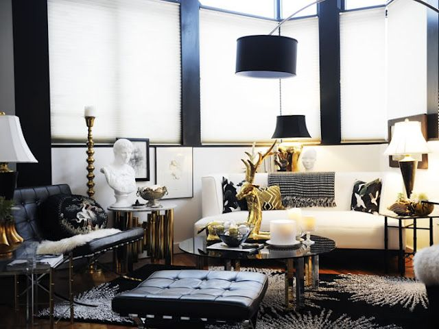 Old Hollywood Glamour In The Living Room Living Room Ideas Rose Gold Black And Gold Living Room White And Gold Decor