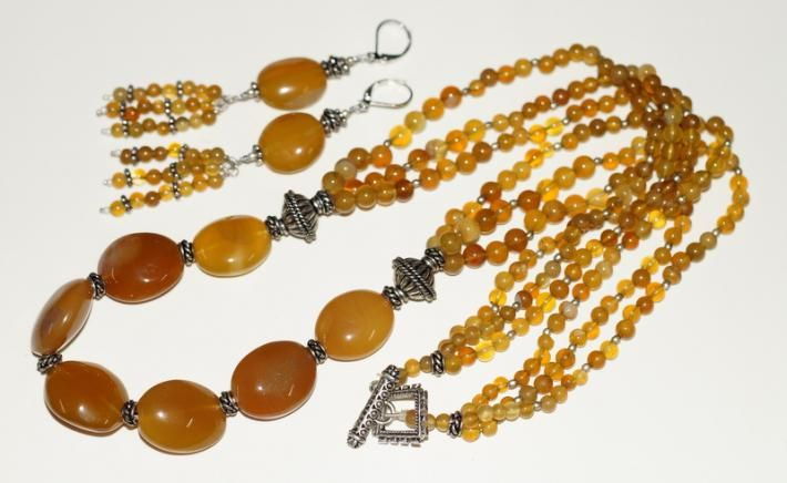 Golden Chalcedony Necklace