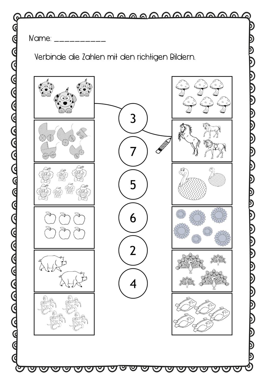 Zahlen und Mengen verbinden 20 200   Zahlen lernen vorschule, Zahlen ...