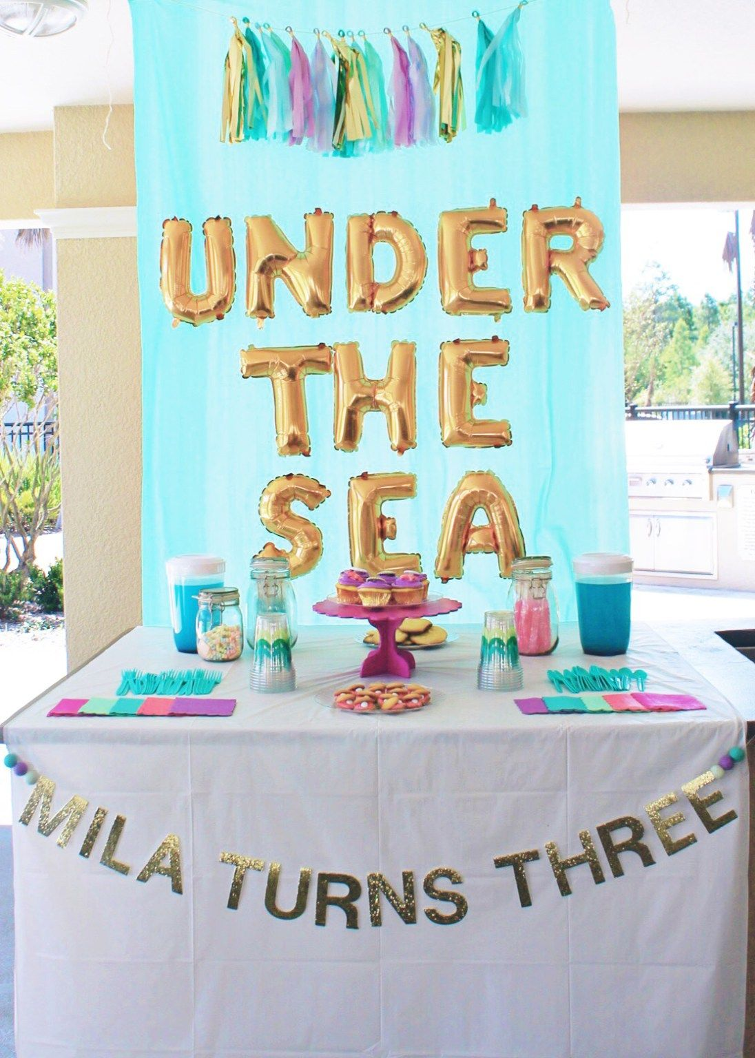 Mermaid under the sea birthday party