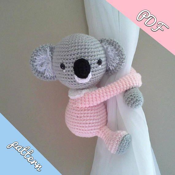 Koala Baby Koala Curtain Tieback Crochet Pattern Right Or Left